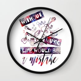 Fun Design with Musical Instruments Wall Clock