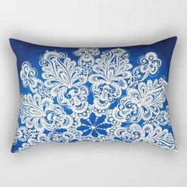 White snowflake in Petrykivka style Rectangular Pillow