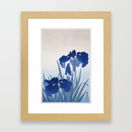 Iris flowers by Ohara Koson Framed Art Print