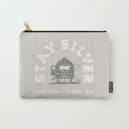 """Stay Silver"" Retro Type (gray) Carry-All Pouch"