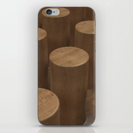 Wood with cylinders iPhone Skin