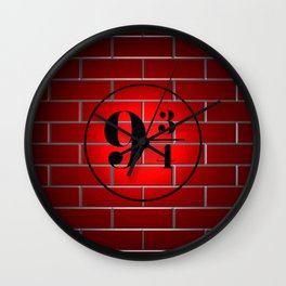 peron brick wall Wall Clock