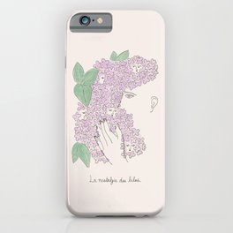 La nostalgie des lilas iPhone Case