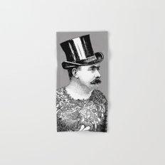 Tattooed Victorian Man Hand & Bath Towel