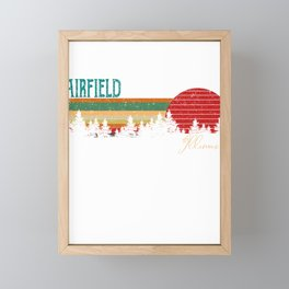 fairfield Illinois Retro Vintage Custom Funny Framed Mini Art Print