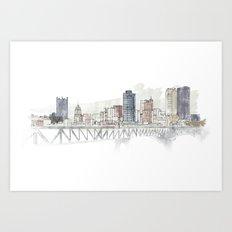 Pittsburgh Liberty Bridge Art Print