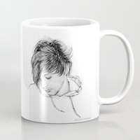 louis tomlinson Mugs featuring Louis Tomlinson by Daisied Dream