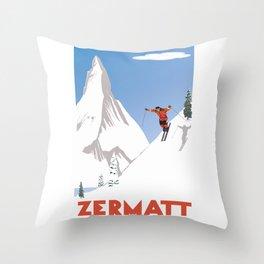 Zermatt, Valais, Switzerland Throw Pillow