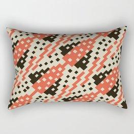 Chocktaw Geometric Square Cutout Pattern - Iron Oxide Rectangular Pillow