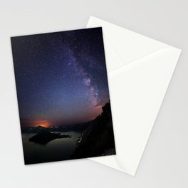 Crater Lake Galaxy Stationery Cards