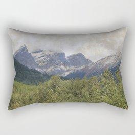 The Three Sisters - Canadian Rockies Rectangular Pillow