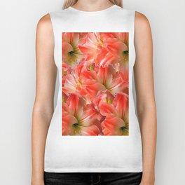Pink & Red Amaryllis Patterns Floral Art Biker Tank