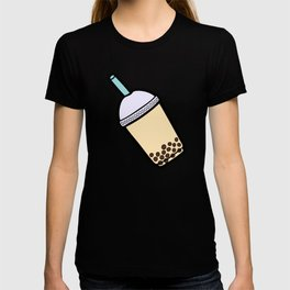 Bubble Tea Pattern in Red T-shirt