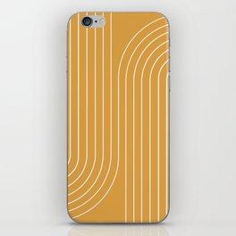 Minimal Line Curvature - Golden Yellow iPhone Skin
