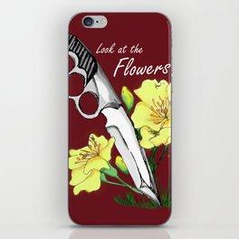 Carol's Flowers_red iPhone Skin