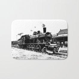 Riding the Rails - Vintage Steam Train Bath Mat