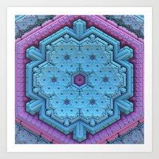 Pastel Snowflake Art Print