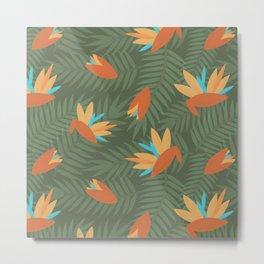 Birds of Paradise Hawaiian Shirt Pattern Metal Print