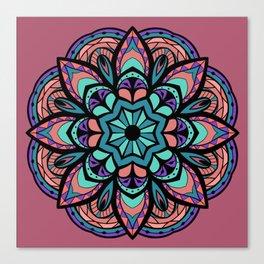 Mandala Pinks & Blues  #GraphicArt #SpiritualArt Canvas Print