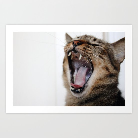 Yawning Is Contagious Art Print
