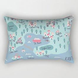 Kanto Map Rectangular Pillow