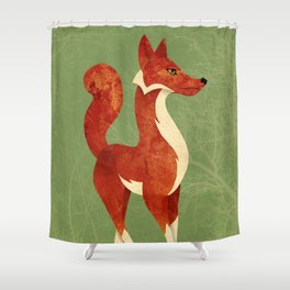 Foxing Around Shower Curtain