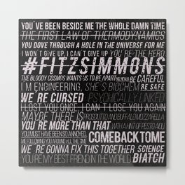 FS phrases B&W Metal Print