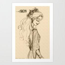 Sigyn Art Print