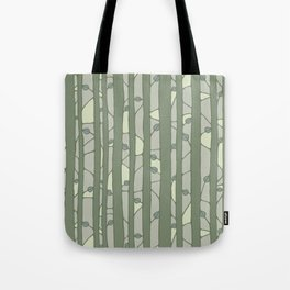Into The Woods green Tote Bag
