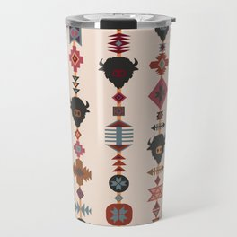 American Prairie Ethnic Tribal Seamless Pattern Travel Mug