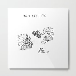 TOYS FOR TOTS Metal Print
