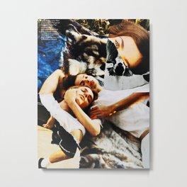Warm Contact Metal Print