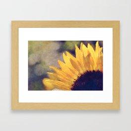 Another sunflower - Flower Flowers Summer Framed Art Print