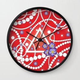 Petals and Pearls Wall Clock