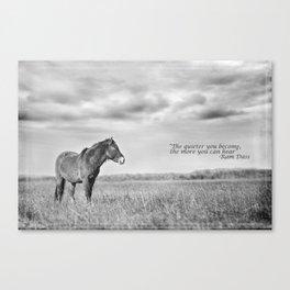 'Listen' Canvas Print