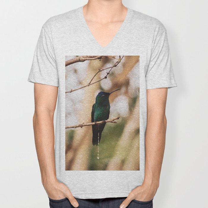 Bird - Photography Paper Effect 007 Unisex V-Neck