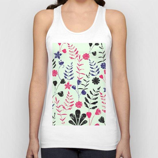Floral Pattern Unisex Tank Top