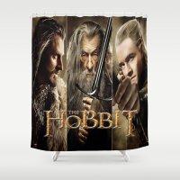 hobbit Shower Curtains featuring  Hobbit by ira gora