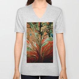 Surreal tree Unisex V-Neck