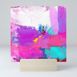 polo abstract Mini Art Print