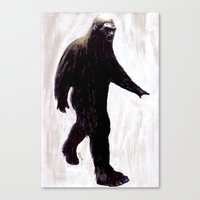 bigfoot Canvas Prints featuring Bigfoot by Zombie Rust