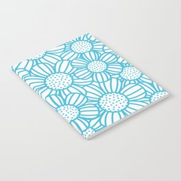 Field of daisies - teal Notebook
