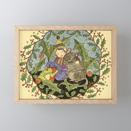 Sheltering The Little Folk Framed Mini Art Print