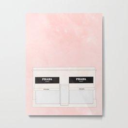 pink marfa watercolor illustration Metal Print