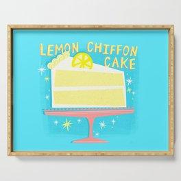 All American Classic Lemon Chiffon Cake Serving Tray