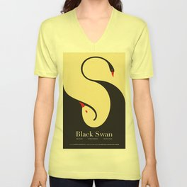 Lab No. 4 - Black Swan Movie Quotes Poster Unisex V-Neck