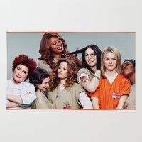 oitnb Area & Throw Rugs featuring OITNB by I Love Decor