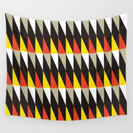 Geometric Pattern #187 (harlequin red yellow) Wall Tapestry