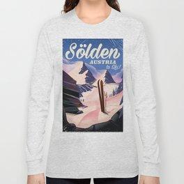Sölden Austria vintage ski poster Long Sleeve T-shirt