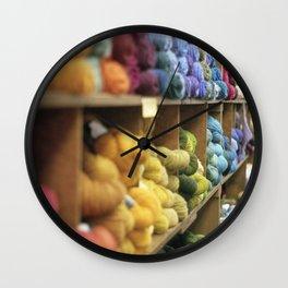 Yarn Barn Wall Clock